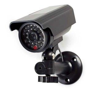 NEDIS DUMCBS10BK Dummy Security Camera, Bullet, IP44, Black | SECURITY | elabstore.gr