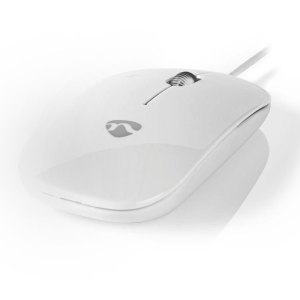 NEDIS MSWD200WT Wired Mouse 1000 DPI 3-Button White   ΠΕΡΙΦΕΡΕΙΑΚΑ Η/Υ & LAPTOP   elabstore.gr