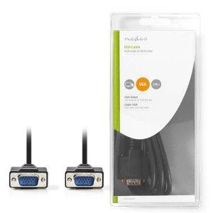 NEDIS CCGB59000BK20 VGA Cable VGA Male - VGA Male 2.0 m Black | ΚΑΛΩΔΙΑ / ADAPTORS | elabstore.gr