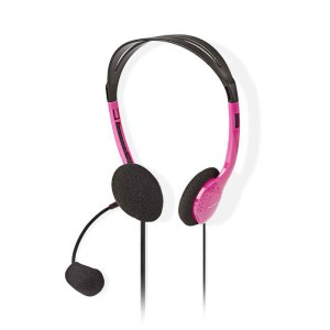 NEDIS CHST100PK PC Headset On-Ear 2x 3.5 mm Connectors 2.0 m Pink   ΠΕΡΙΦΕΡΕΙΑΚΑ Η/Υ & LAPTOP   elabstore.gr
