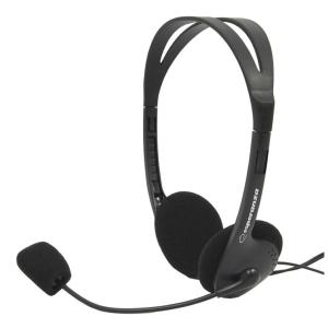 ESPERANZA Headphones με μικρόφωνο Scherzo EH102, 2x 3.5mm, 2.5m, μαύρα   Συνοδευτικά PC   elabstore.gr