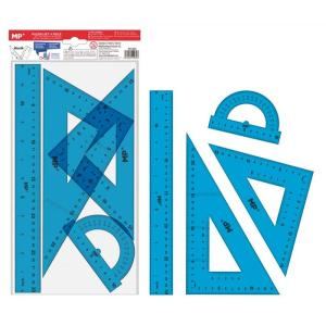 MP σετ χάρακες PA144C, διάφανο πλαστικό, διάφορα χρώματα, 4τμχ | Αναλώσιμα - Είδη Γραφείου | elabstore.gr