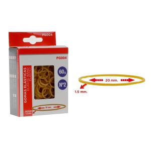 MP λαστιχάκια συσκευασίας PG004 σε κουτί, No2, 1.5x20mm, 60g   Αναλώσιμα - Είδη Γραφείου   elabstore.gr