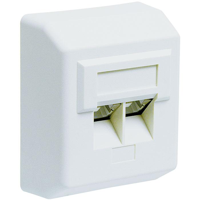 50971 CAT 5e DAP WHITE SUREFACE MOUNT   ΔΙΚΤΥΑΚΑ / SMART HOME   elabstore.gr