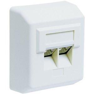 50971 CAT 5e DAP WHITE SUREFACE MOUNT | ΔΙΚΤΥΑΚΑ / SMART HOME | elabstore.gr