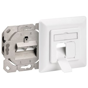 68721 CAT 6a WALL PLATE FLUSH MOUNTING WHITE | ΔΙΚΤΥΑΚΑ / SMART HOME | elabstore.gr