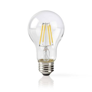 NEDIS WIFILF10WTA60 Wi-Fi Smart LED Bulb Filament E27 White A60 | ΔΙΚΤΥΑΚΑ / SMART HOME | elabstore.gr