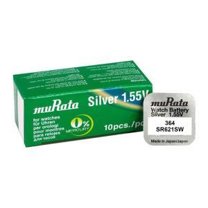 MURATA μπαταρία Silver Oxide για ρολόγια SR621SW, 1.55V, No 364, 10τμχ   Μπαταρίες   elabstore.gr