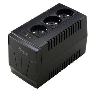 POWERTECH σταθεροποιητής ρεύματος PT-AVR-1500, 1500VA, 3x έξοδοι πρίζας   Τροφοδοσία Ρεύματος   elabstore.gr