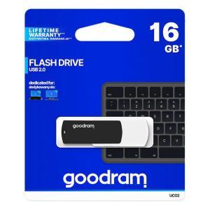 GOODRAM USB Flash Drive UCO2 0160KWR11, 16GB, USB 2.0, μαύρο   Συνοδευτικά PC   elabstore.gr