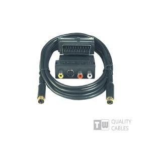Scart Adaptor 5m + S-Video Cable | Ήχου & Εικόνας | elabstore.gr