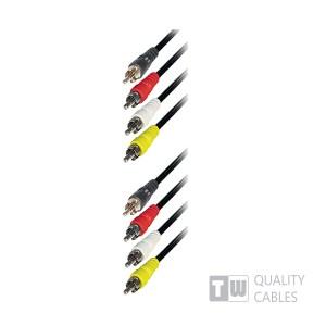 1.5M Nickel Rca Plug To 4RCA Plug | Ήχου & Εικόνας | elabstore.gr