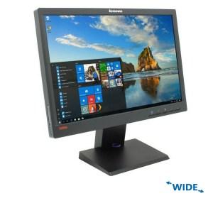 "Used Monitor LT1952pw TFT/Lenovo/19""/1440x900/Wide/Black/Grade B/VGA & DVI-D & DisplayPort | Refurbished | elabstore.gr"