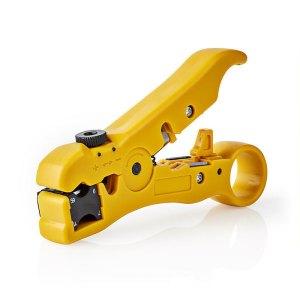 NEDIS CSGG49520YE Coax Cable Stripper RG59 - RG6 - RG7 - RG11 | ΔΙΚΤΥΑΚΑ / SMART HOME | elabstore.gr