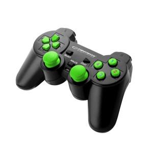 Gamepad EGG102G PC USB WARRIOR BLACK/GREEN | Gaming | elabstore.gr