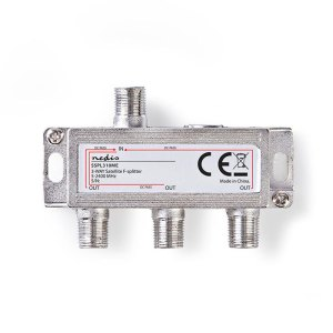 NEDIS SSPL310ME Satellite F-Splitter Max. 10.5 dB Insertion loss 5 - 2400 MHz 3 | ΕΙΚΟΝΑ / ΗΧΟΣ | elabstore.gr