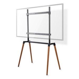 "NEDIS TVSM7250BK TV Floor Stand 60 - 75"" up to 40 kg Scandanavian design Black / | ΕΙΚΟΝΑ / ΗΧΟΣ | elabstore.gr"