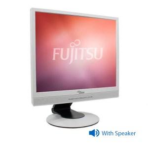 "Used Monitor B19-x LED/Fujitsu/19""/1280x1024/White/Grade B/w/Speakers/VGA & DVI-D   Refurbished   elabstore.gr"