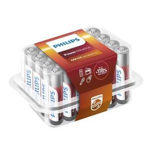 PHILIPS Power αλκαλικές μπαταρίες LR03P24P/10, AAA LR03 1.5V, 24τμχ | Μπαταρίες | elabstore.gr