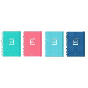 MP ατζέντα 2021 PB549-01, 140x205mm, διάφορα χρώματα, 6τμχ | Αναλώσιμα - Είδη Γραφείου | elabstore.gr