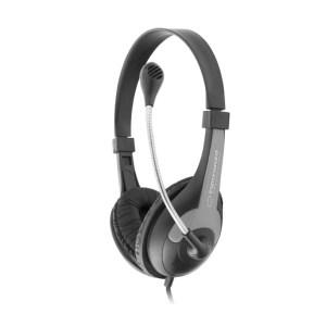 Ακουστικό με μικρόφωνο μαύρο EH158K   Περιφερειακά   elabstore.gr