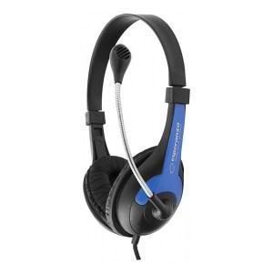 Ακουστικό με μικρόφωνο μπλε EH158B   Περιφερειακά   elabstore.gr