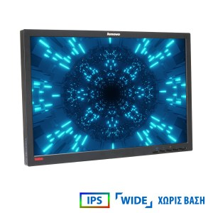 "Used Monitor LT2452pwc IPS/Lenovo /24""/1920x1200/wide/Black/No Stand/Grade B/D-SUB&DVI-D&DP&USB HUB | Refurbished | elabstore.gr"