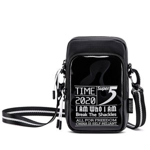 SUPER FIVE τσάντα ώμου K00110-BK, μαύρη   Οικιακές & Προσωπικές Συσκευές   elabstore.gr