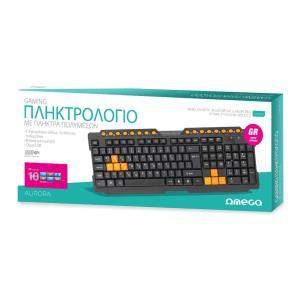 OMEGA ενσύρματο πληκτρολόγιο Aurora OK026GR, USB, μαύρο | Συνοδευτικά PC | elabstore.gr