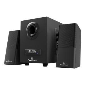 POWERTECH ηχεία Premium sound PT-846, 16W, USB/SD/FM/BT, remote, μαύρα   Συνοδευτικά PC   elabstore.gr