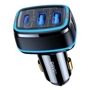 USAMS USB φορτιστής αυτοκινήτου, US-CC126, 3x USB, 80W, μαύρος | Αξεσουάρ κινητών | elabstore.gr