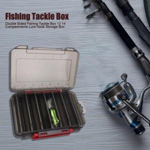Κασετίνα ψαρέματος δίπλευρη FISH-0024, 14 x 10.5 x 3cm, μαύρη   Gadgets - Αξεσουάρ   elabstore.gr