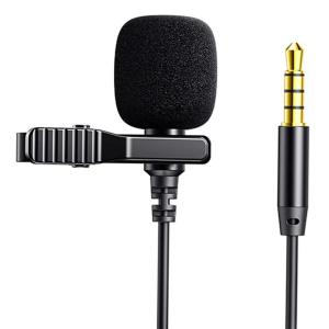 JOYROOM καλώδιο 3.5mm με ενσωματωμένο clip-on μικρόφωνο JR-LM1 3m, μαύρο   Συνοδευτικά PC   elabstore.gr