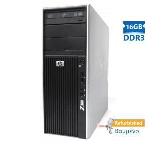 HP Z400 Tower Xeon QC-W3565 (4-Cores)/16GB DDR3/1TB/Κάρτα Γραφικών1GB/DVD/7P Grade A+ Workstation Re   Refurbished   elabstore.gr