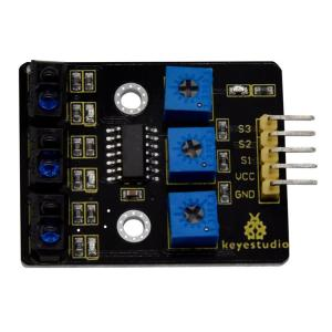 KEYESTUDIO 3-channel infrared line tracking sensor KS0453   Gadgets - Αξεσουάρ   elabstore.gr