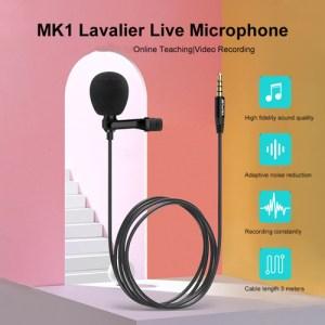 AWEI καλώδιο 3.5mm με ενσωματωμένο clip-on μικρόφωνο AW-MK1, 3m, μαύρο | Αξεσουάρ κινητών | elabstore.gr