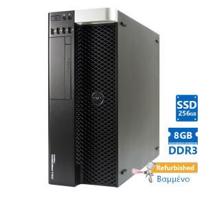 Dell T3600 Tower Xeon E5-1620(4-Cores)/8GB DDR3/256GB SSD/ATI 1GB/H310/DVD-RW/7U Grade A+ Workstatio   Refurbished   elabstore.gr