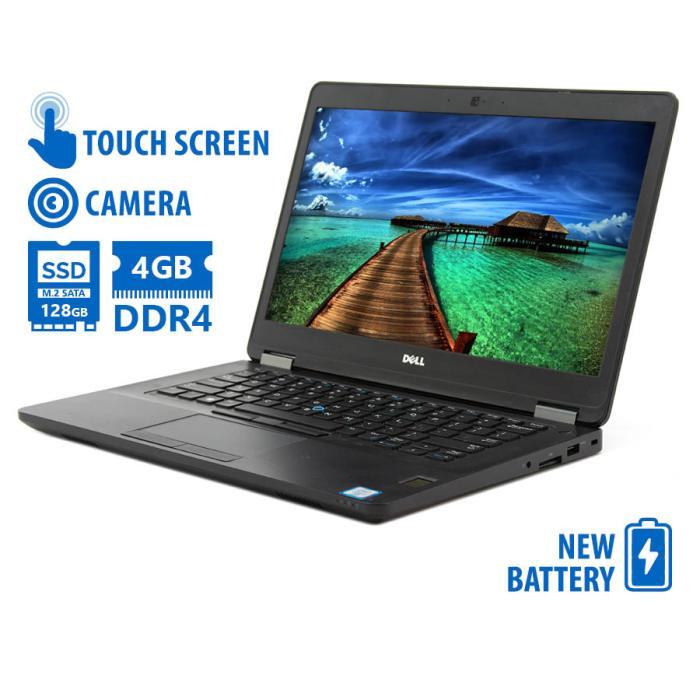 "Dell Latitude E5470 i5-6300U/14"" Touchscreen/4GB DDR4/128GB M.2 SSD/No ODD/Camera/New Battery/8P Gra   Refurbished   elabstore.gr"