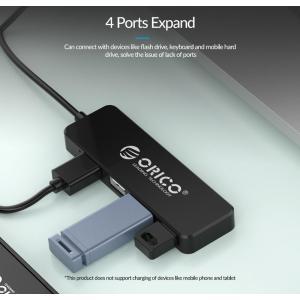 ORICO USB 2.0 Hub FL01, 4x USB, μαύρο | Συνοδευτικά PC | elabstore.gr