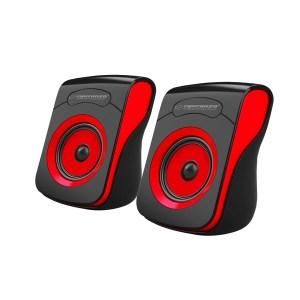 Ηχείο 2.0 USB Μαύρο/Κόκκινο EP140KR   Περιφερειακά   elabstore.gr
