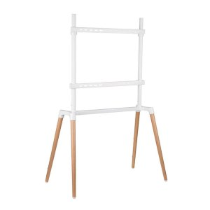 "NEDIS TVSM7250WT TV Floor Stand 60 - 75"" up to 40 kg Scandanavian design White / | ΕΙΚΟΝΑ / ΗΧΟΣ | elabstore.gr"