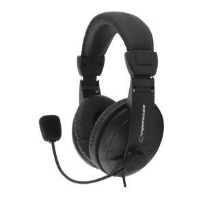 CONCERTO Ακουστικό με μικρόφωνο μαύρο EH103   Περιφερειακά   elabstore.gr