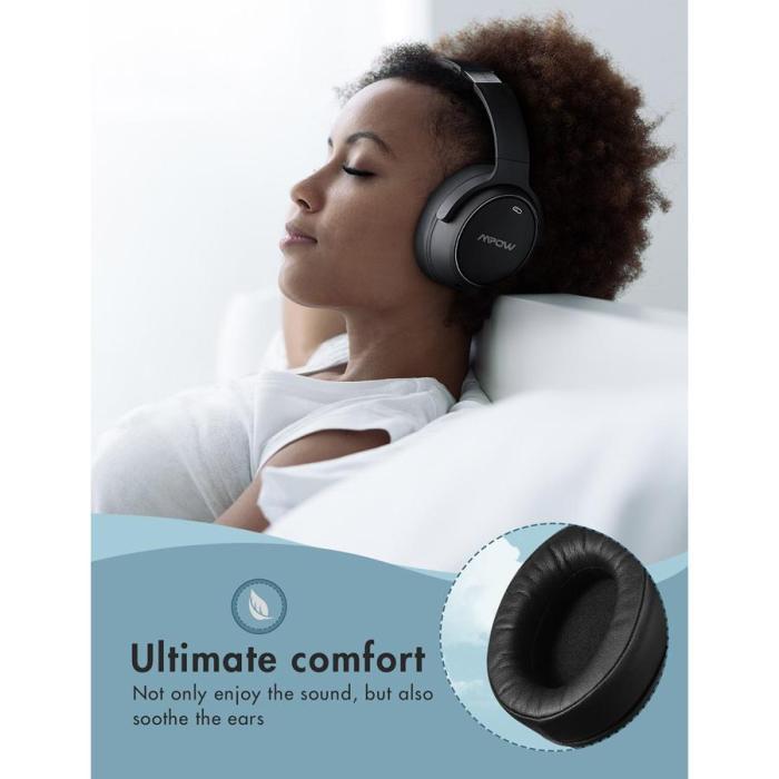 MPOW headphones H19 BH329B, wireless & wired, ANC, BT 5.0, μαύρα   Αξεσουάρ κινητών   elabstore.gr