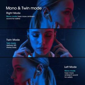 MPOW earphones με θήκη φόρτισης M9 BH413A, True Wireless, μαύρα   Αξεσουάρ κινητών   elabstore.gr
