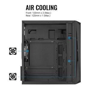 AEROCOOL PC mini tower CS-107-A, 197.5x353x340.6mm, 3x FRGB fan, μαύρο | PC & Αναβάθμιση | elabstore.gr