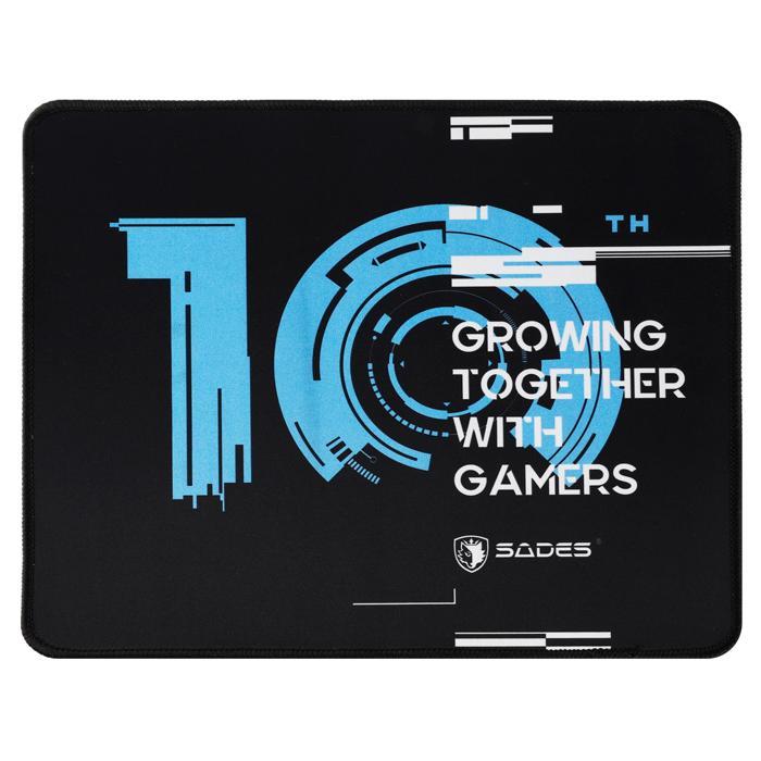 SADES gaming mouse pad 10th Anniversary SA-P5, 320 x 270mm, μαύρο   Συνοδευτικά PC   elabstore.gr