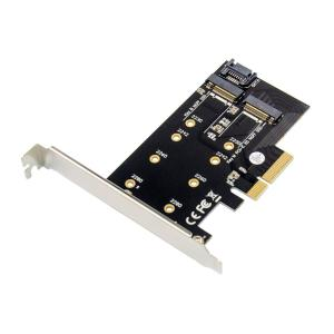 POWERTECH κάρτα επέκτασης 4x PCIe σε M.2 B & M Key ST59   PC & Αναβάθμιση   elabstore.gr