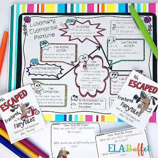 Engage students by adding a little movement during the lesson. Escape room, like this plot elements breakout, are a perfect way to get kids to buy in to a lesson. And the team building aspect can't be beat! #middleschool #escaperoom #breakout #plotescaperoom #teachliteraryelements #teachplot #plotelements #middleschoolbestpractice