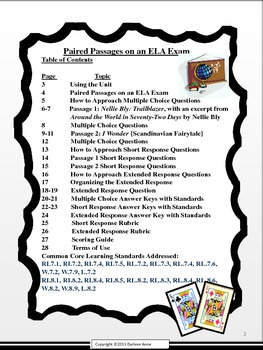 Paired Passages for Grades 7 and 8 - ELA Buffet
