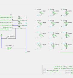 circuit schematics for the attiny charlieplexed led chocolate box project [ 1200 x 768 Pixel ]